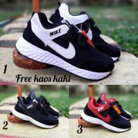 Nike Neo Anak slip on size 33 - 37 sepatu sneakers casual sekolah biru