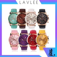 Lav - J028 Jam Tangan / Arloji Geneva Colourful / Quartz / Free Ba