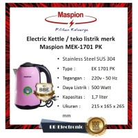 Electric kettle / teko listrik merk Maspion MEK-1701PL-Biru
