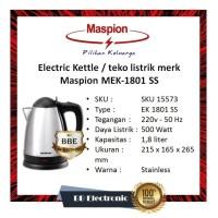 Electric Kettle / teko listrik merk Maspion MEK-1801 SS