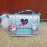 Tas selempang Justice Original Sling bag studded light blue