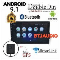 HEAD UNIT TAPE MOBIL DOUBLE DIN OS ANDROID EMBASSY GPS FULL HD