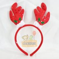 Bando / Topi Natal / Merry Christmas Motif Tanduk Rusa