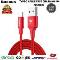 CABLE BASEUS RAPID SERIES LAMPLIGHT USB TYPE C 2A 2M FAST ORIGINAL