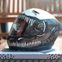 Helm Full Face KYT K2R Motif Venom K2 Rider Marvel Edition