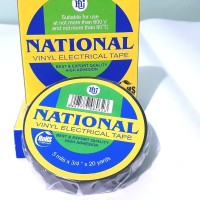 Isolasi National Tape Electrical Vinyl Kabel Listrik Hitam