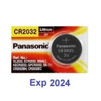Battery Panasonic CR2032 3V Lithium - Batu Baterai Batere coin CR-2032