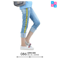 Celana Jeans Wanita Trendy Side Stripe Jeans GIARDINO Jeans Cewek