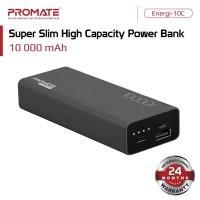 Promate Power Bank 10000 mAh Ultra Slim - Energi-10C Powerbank 10000mA - Hitam