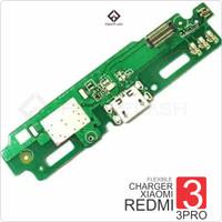 FLEXIBLE CHARGER MIC XIAOMI REDMI 3 3S PRO PAPAN KONEKTOR FLEXIBEL PCB - Putih
