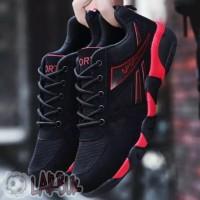 Sepatu Pria Sneakers/ Olahraga/ Lari Casual Bahan Mesh RED