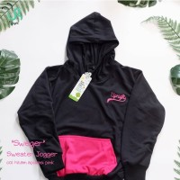 Sweater Joger / Sweger Anak - Upright - Hitam Pink - M
