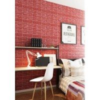 Wallpaper Brick foam / Wallpaper 3D Batu Bata MERAH RED