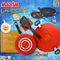 Maxim Panci set Valentino 2pcs/panci set/Wajan Teflon maxim