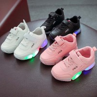 Sepatu LED Casual Bayi Laki-laki / Perempuan Anti Slip dengan Sol