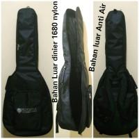 SOFTCASE Gitar Akustik Hitam Polos model Ransel limited stock