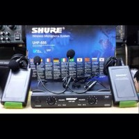 Mic Microphone Wireless Shure UHF 555 Professional 2 Clip On SSfx14399