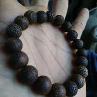 Natural Gelang Batu Sisik Naga Ready Fosil Kayu Cendana Galeh Kelor