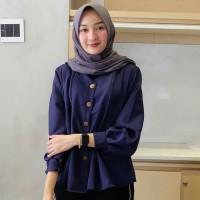 shamira top atasan wanita blouse kemeja murah grosir baju hijab - BOM