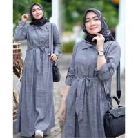 Baju Gamis Wanita Terbaru Dress Muslim Gamis Murah Safa Maxi - BOM
