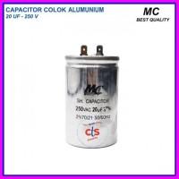 Kapasitor (capacitor) Ac 20 Uf Aluminium V - 250 (spare