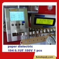 BARU paper dielectric capacitor 104 0 1UF 100nf 100 nf 50V 100V