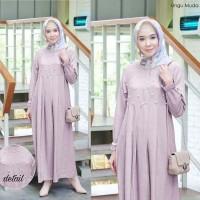 Gamis muti ungu muda baju muslim wanita remaja simpel murah mut At