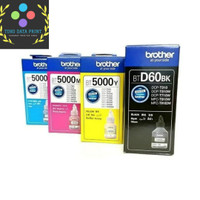 Tinta Brother BTD60 BT5000 1set Original BTD60BK for T710 T510 T310
