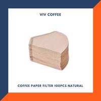 Kertas Filter Kopi Saringan Kertas Kopi 100pcs Natural