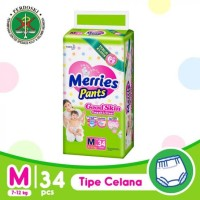 MERRIES GOOD SKIN M34 / POPOK M 34 CELANA BAYI PAMPERS MURAH