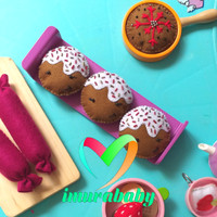 Mainan food flanel - cookies