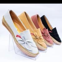Sepatu FlatShoes Teplek Kulit Flat Shoes Murah M012