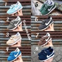 Nike Anak Slip On size 23 - 32 sepatu anak pria hitam tanpa tali hitam