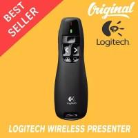 Laser Pointer Logitech R400 Presenter Laser Merah Packing Kuning ORI