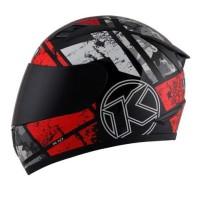 HELM FULL FACE KYT R10 SERI 3 BLACK WHITE RED