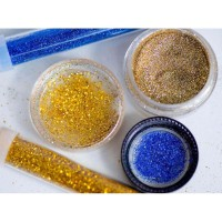 Glitter gliter manik manik kuku wajah, campuran cat, dan kerajinan.