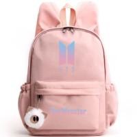 Tas Ransel Logo BTS RM Boys Dengan Telinga Kelinci Free Gantungan