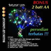 BALON BOBO LED RAINBOW BONUS BATEREI BALON LAMPU LED SOUVENIR PESTA