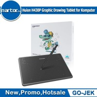 Huion H430P Graphic Drawing Tablet for Komputer with free battery pen