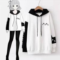 Jaket Jepang/Anime - Cat Face Hoodie