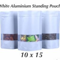 white matte standing pouch window 10x15 standing pouch aluminium