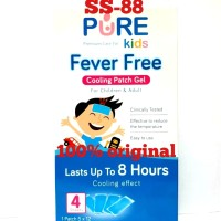 PURE KIDS FEVER FREE COOLING PATCH GEL ~ ISI 4 LEMBAR