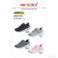 Sepatu sneakers olahraga running wanita ando rebecca
