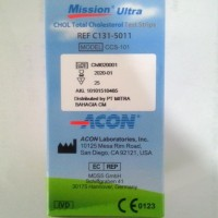 Ready Stock Mission Ultra Cholesterol Test Strips