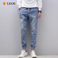 LEOS Original Celana Jogger Jeans Pria 45A004