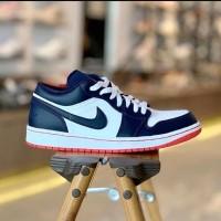 Sepatu Nike Air Jordan 1 Low Navy Premium Original