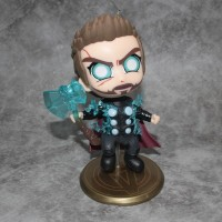 Action figure Thor Odinson cosbaby bobble head fighting mode effect
