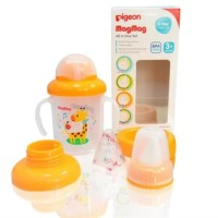 Pigeon magmag all in one set training cup 3+ month gelas bayi magmag