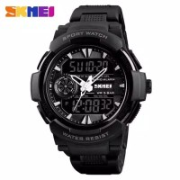 Jam Tangan Pria Dual Time SKMEI 1320 Sport Original - LIST PUTIH