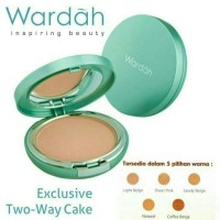 Bedak Wardah Exclusive two way cake